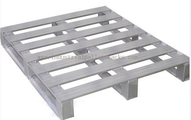 "Heavy Duty Metal Pallets Warehouse Equipments Standard Size 40"" X 48"" Grey Color"